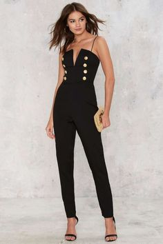 Rare London Stand Down Plunging Jumpsuit - Rompers + Jumpsuits | Best Sellers | Party Clothes | All Party