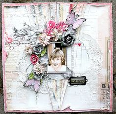 Buttercup **Scraps of Elegance** - created by Helena Johansson with our Lovesong kit