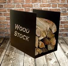 This stylish log rack offers ample storage that keeps wood off the hearth for a… Wood Storage, Storage Rack, Storage Organization, Metal Fire Pit, Fire Wood, St Clare's, Log Holder, Laser Cut Steel, Fire Pit Designs