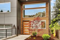 Image result for siding around front door modern