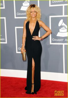 Rihanna in Georgio Armani.  She rides the fine line of trashiness but pulls safely into 'hot' territory