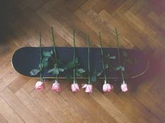 Roses pretty skateboard