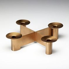 Albert Reimann; Copper Candle Holder for Chase, c1940.