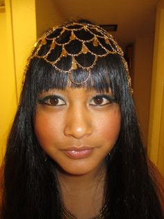 Cleopatra costume-F21 necklace used as a headpiece
