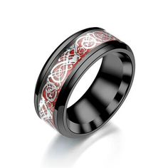 Fashion Rings, Fashion Jewelry, Cheap Crystals, Dragon Ring, Tungsten Carbide Wedding Bands, Silver Dragon, Valentines Jewelry, Stainless Steel Rings