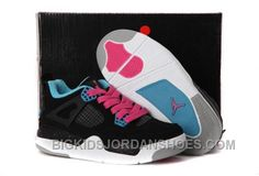 13b19fc3801 Buy Nike Air Jordan 4 Kids Dynamic Blue White Black Pink Shoes New from  Reliable Nike Air Jordan 4 Kids Dynamic Blue White Black Pink Shoes New  suppliers.