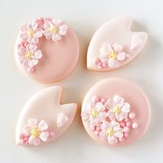 神戸アイシングクッキーレッスン【fiocco】: 桜のアイシングクッキー♪