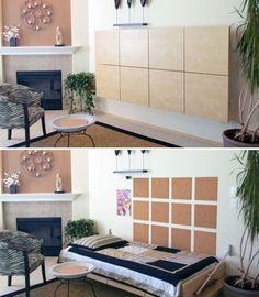 This is a Murphy Bed! (and an Ikea hack) 10 Murphy Beds that Maximize Small Spaces Murphy Beds, Murphy Bed Kits, Murphy Bed Plans, Maximize Small Space, Small Space Office, Small Spaces, Lori Walls, Murphy-bett Ikea, Ikea Hack
