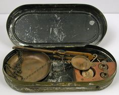 Antique Miner's Gold Rush Era Pocket Scale by Entiat on Etsy