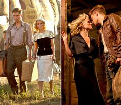 love the nautical outfit on the left worn by Reese Witherspoon (as Marlena in Water for Elephants)