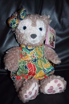 "NEW RARE 2015 Shellie May Disney Aulani Scenic 12"" Duffy Bear HAWAII EXCLUSIVE"