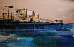 Excellent Art Utrecht George Heidweiller - Border 160 x 100 cm. Unica