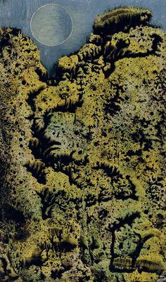 Max Ernst (German/French, 1891-1976), Sans titre, c.1955. Oil on panel, 14.4 x 9 cm.