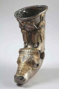 silver rhyton Poroina Romania 500-300 BC riton argint getic mitologie geto-dacica si traca