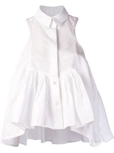 SACAI Pleated Shirt Blouse