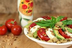 Mozzarella Avocado Tomato Salad Recipe ~ Great Low Carb Meals