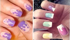 À esquerda, em versão mais discreta com base nude e multicolorida, à direita (Foto: Reprodução)
