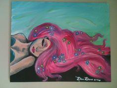 The Pink Mermaid painting