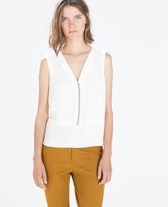Imagem 1 de TOP VIVO A CONTRASTAR da Zara