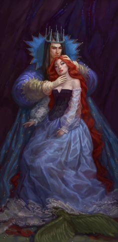 "fairytalemood: ""Ariel and Prince"" by any-s-kill"