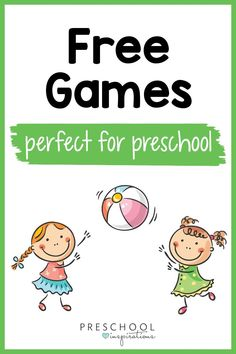 Free preschool games your kids will love! There are circle time games, gross motor games, ball games, creative games, music and movement games, and more! Circle Time Games, Circle Time Activities, Weather Activities, Gross Motor Activities, Gross Motor Skills, Learning Activities, Free Preschool Games, Free Games, Potty Training Tips