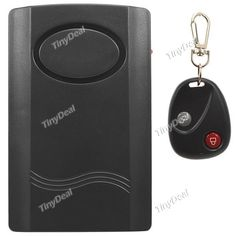 120dB Vibration Activated Anti-Theft Security Alarm with Remote Control Keychain for Door Window - Black SALA0005
