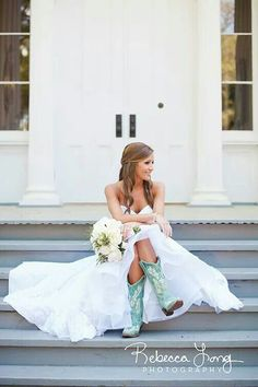 This is it. This is what I will look like on my wedding day. The dress. The hair. The boots. This will be me some day!