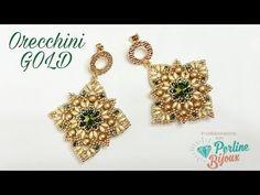Video Tutorial Orecchini Gold con Swarovski in collaborazione con Perlinebijoux … Video Tutorial Gold earrings with Swarovski in collaboration with …
