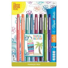 Paper Mate® Flair Felt Tip Pens, Tropical Vacation 8ct
