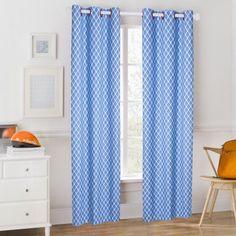 Mainstays Kids Blue Plaid Coordinating Window Curtain
