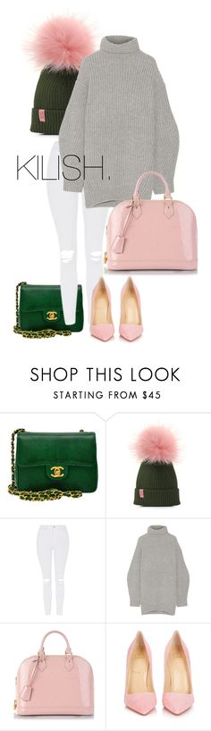 """Sorority Girl"" by fashion-junki on Polyvore featuring Chanel, Topshop, Acne Studios, Louis Vuitton and Christian Louboutin"