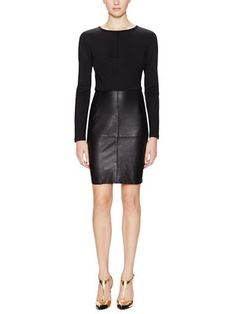 Sutherland Leather Skirt Dress