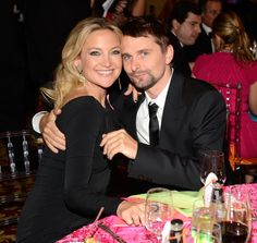 Kate Hudson and Matthew Bellamy cuddled up the Hot Pink Party in NYC