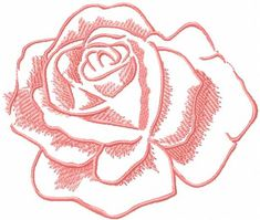 Rose free embroidery design 14. Machine embroidery design. www.embroideres.com