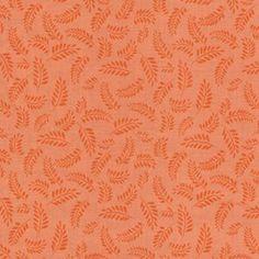 Quilting Treasures House Designer - Chantilly - Pinnate Leaves in Orange