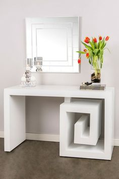 Greek Key Console Table by Statements by J on @HauteLook I like this piece, but I think it might overpower the room I'm shopping for