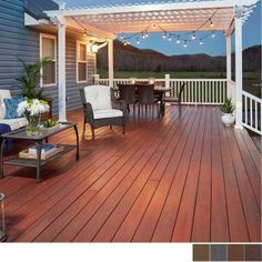 What do you look for in a backyard patio deck design? Is the deck going to be constructed of wood? Backyard Patio Designs, Pergola Designs, Backyard Landscaping, Small Deck Designs, Backyard Decks, Landscaping Ideas, Deck With Pergola, Pergola Kits, Pergula Deck