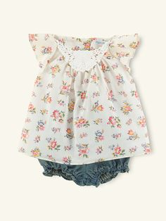 Floral Tunic & Denim Bloomer - Outfits & Gift Sets  Layette Girl (Newborn–9M) - RalphLauren.com