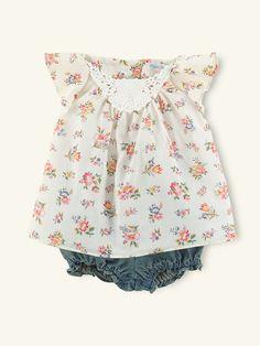 Floral Tunic & Denim Bloomer