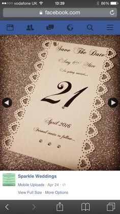 Awesome save the date card at:- https://m.facebook.com/Sparkle-Weddings-105768253100632/