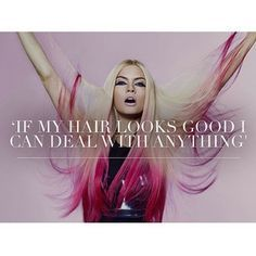 If my hair looks good, I can deal with anything #hairextensions #hairquote