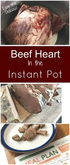 How to Cook Beef Heart in the Instant Pot - Health, Home, & Happiness Instant Pot Pressure Cooker, Pressure Cooker Recipes, Pressure Cooking, Slow Cooker, Beef Kidney, Beef Liver, Liver Recipes, Beef Recipes