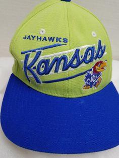 6adff7d20ff Vtg ZEPHYR Z Hat University of Kansas KU Jayhawks Snapback Baseball Cap  Retro  Zephyr