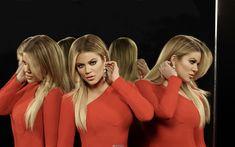 Download wallpapers Khloe Kardashian, 2018, fashion models, red dress, photoshoot, beautiful woman