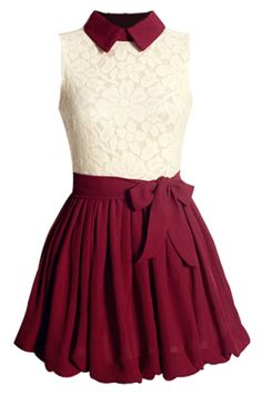 Sweet #Lace Paneled Pleated Princess #Dress - OASAP.com •.❤ Christmas Holiday Gift Ideas from $2.9