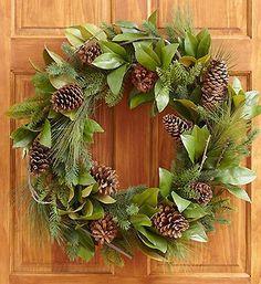 Pinecone and Magnolia Leaf Wreath