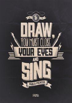 Pablo Picasso Typography design inspiration