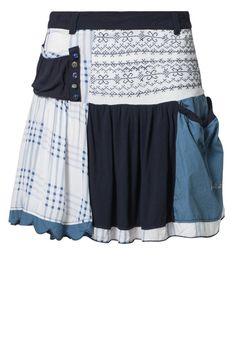 Desigual - SINNOM - Veckad kjol - Blått