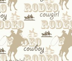 Brown_rodeo fabric by the_rural_rose on Spoonflower - custom fabric