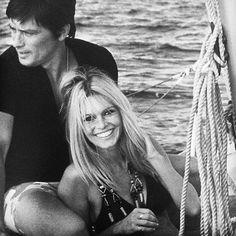#BrigitteBardot and #AlainDelon #SaintTropez #CotedAzur #France #1968 #navigation #boat #sailboat #port #sea #enjoy #smile #Delon #BB  #beauty #gorgeous #sexy #glamour #icon #legend #star #mythe #blackandwhite #photo #instapic #instamood #instalook